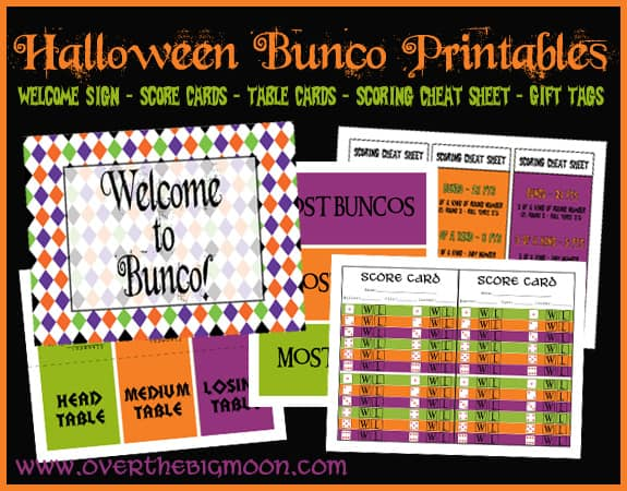 HallBuncoButton Halloween Bunco Printables
