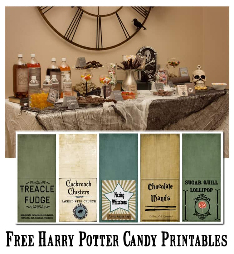 Harry Potter Candy Labels Printable