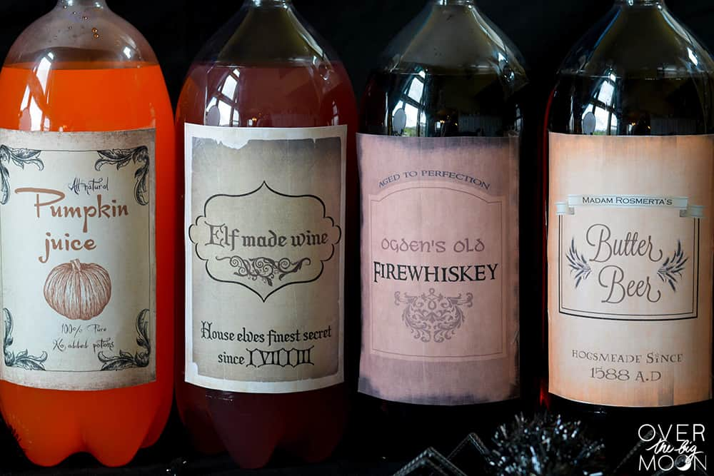 free harry potter drink printables