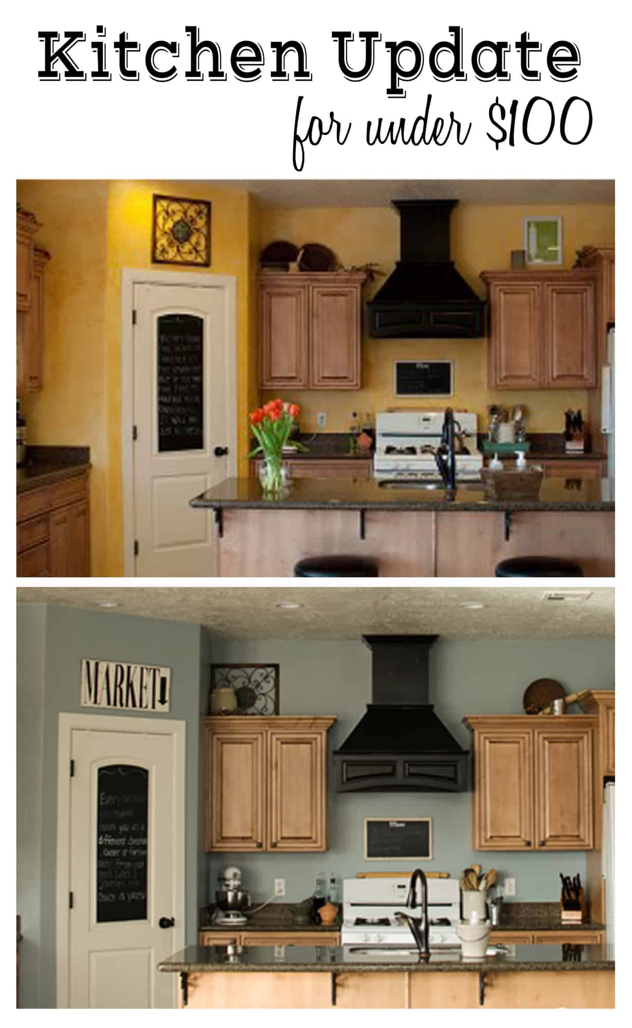 Kitchen update for under 100 - Kitchen paint colors ...