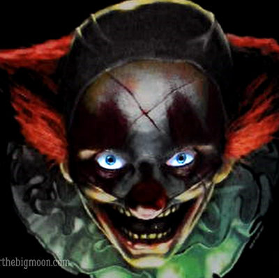 Creepy Clown Wall Art that Stares at you and Blinks