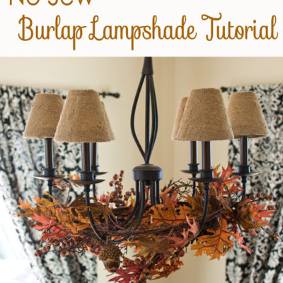 No Sew Lampshade DIY Makeover