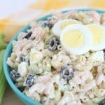Easy Macaroni and Shrimp Salad that's a perfect side dish to any dinner or party! From overthebigmoon.com!