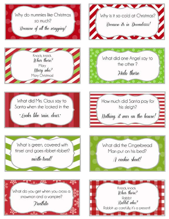 Elf on the Shelf Joke Cards - perfect for your kids lunchbox or to have the elf bring!