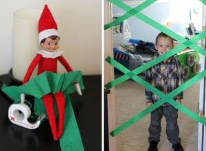 Ginger Elf Shelf 300x220 25 Elf on the Shelf QUICK & EASY Ideas that take Under 5 mins!