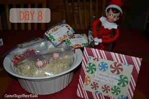 elf day 8 300x200 25 Elf on the Shelf QUICK & EASY Ideas that take Under 5 mins!