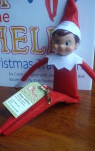 elf on the shelf with key 1 190x300 25 Elf on the Shelf QUICK & EASY Ideas that take Under 5 mins!