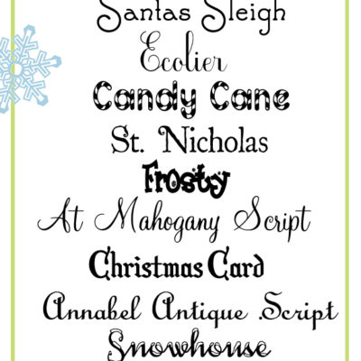 Festive and Free Christmas Fonts