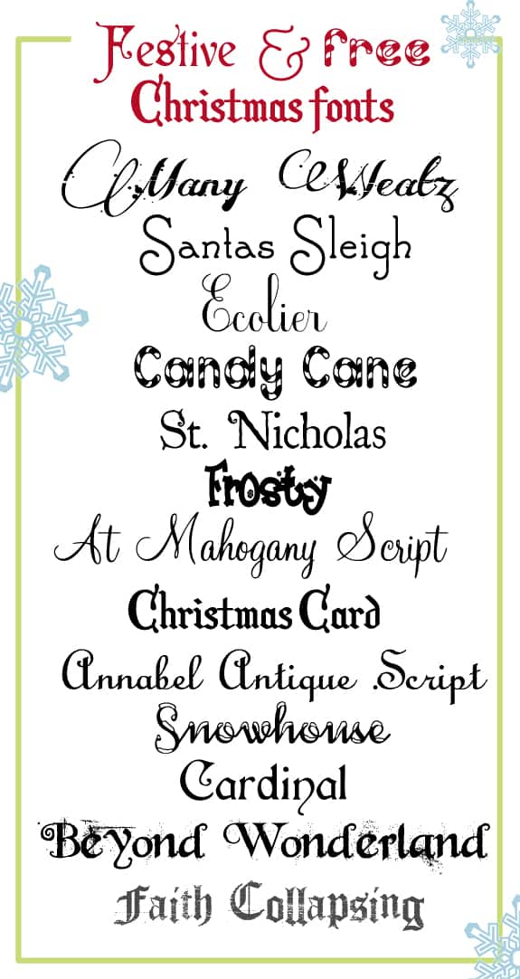many weatz - Christmas Fonts Free