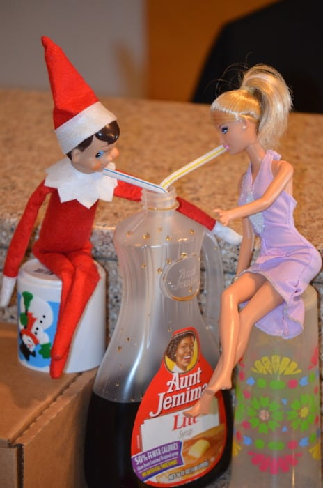Elf drinking Syrup