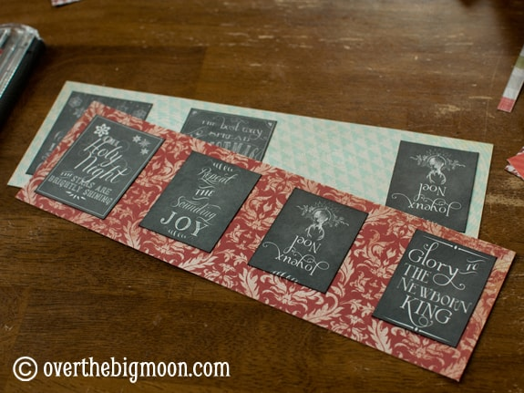 DSC 0745 Turn Free Printables into Ornaments + a Round up of Free Chalkboard Printables!