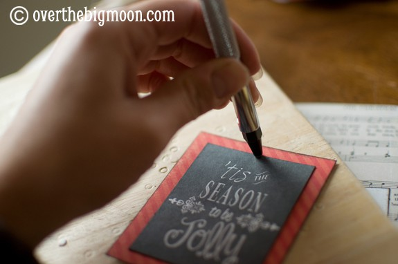 DSC 0761 Turn Free Printables into Ornaments + a Round up of Free Chalkboard Printables!