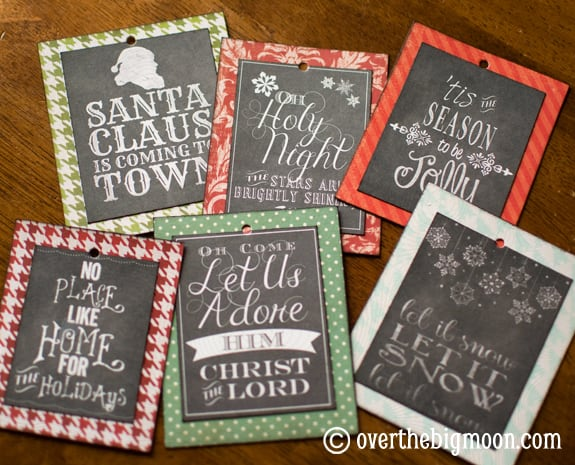 DSC 0762 Turn Free Printables into Ornaments + a Round up of Free Chalkboard Printables!