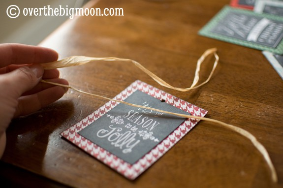 DSC 0763 Turn Free Printables into Ornaments + a Round up of Free Chalkboard Printables!