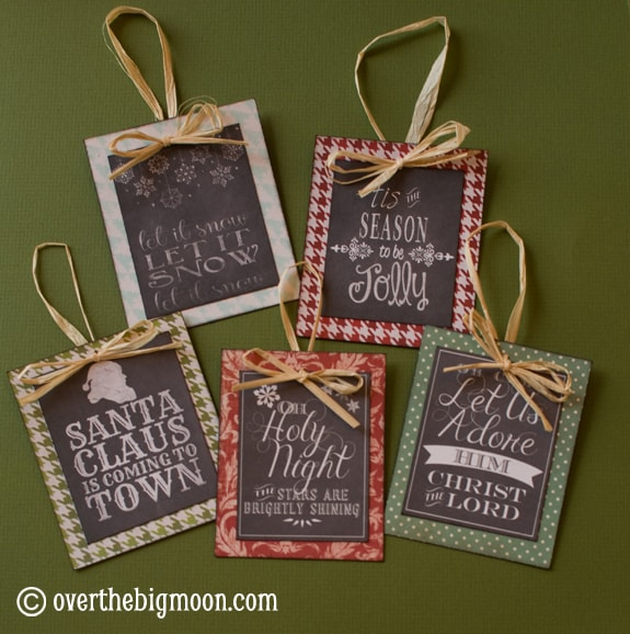 DSC 0773 Turn Free Printables into Ornaments + a Round up of Free Chalkboard Printables!