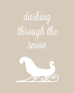 dashing through the snow 1c 240x300 Set of 6 Christmas Carol Free Printables!