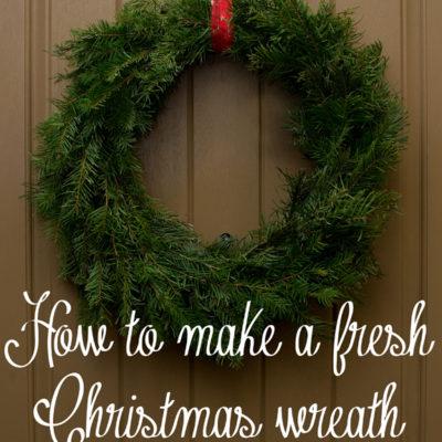 How to Make a Live Christmas Wreath