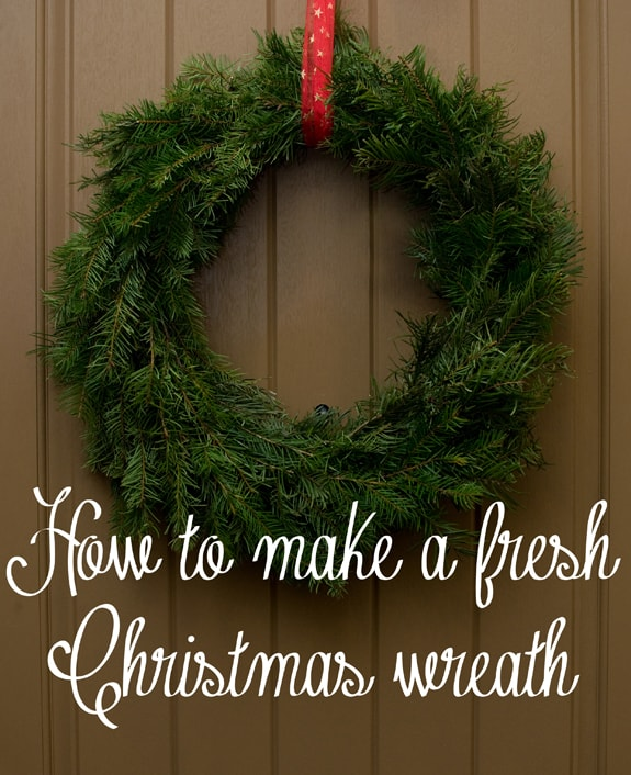how to make a live christmas wreath - How To Make A Christmas Wreath