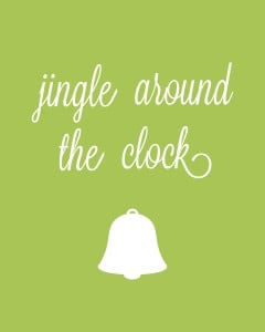 jingle around the clock 1d 240x300 Set of 6 Christmas Carol Free Printables!