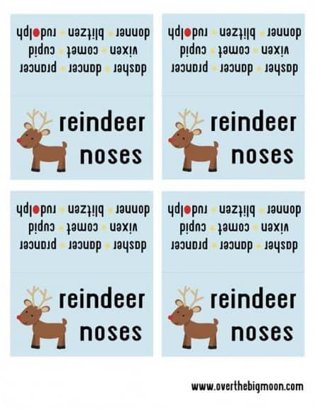 reindeer noses 444x575 Reindeer Noses   Free Printable