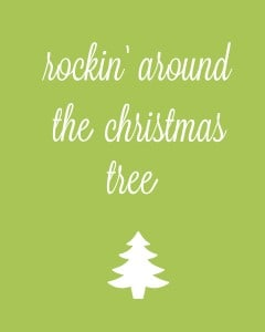rocking around the christmas tree 1f 240x300 Set of 6 Christmas Carol Free Printables!