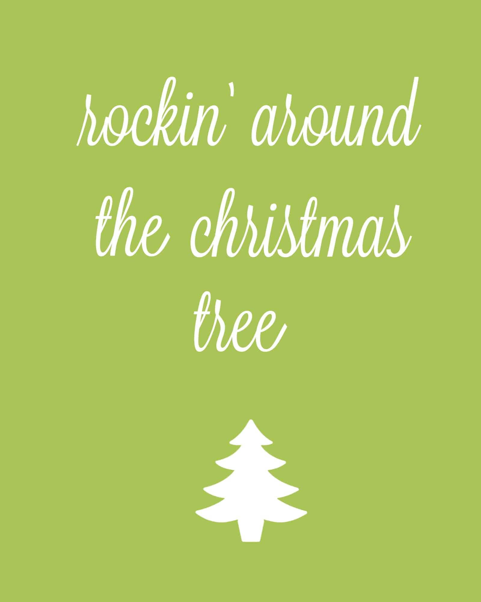 Gallery for rocking around the christmas tree clipart for Around the tree