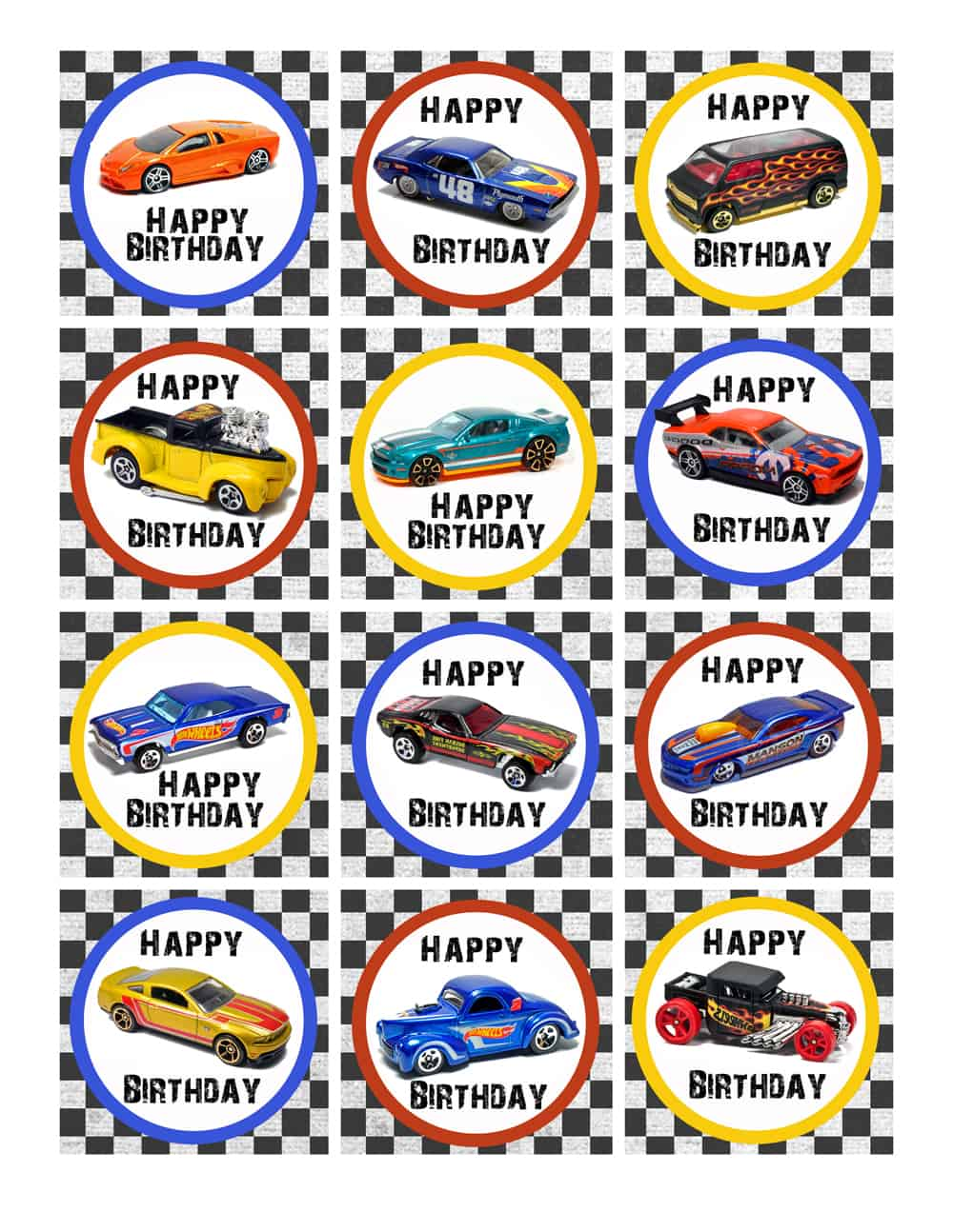 hot wheels birthday party pack free printables. Black Bedroom Furniture Sets. Home Design Ideas