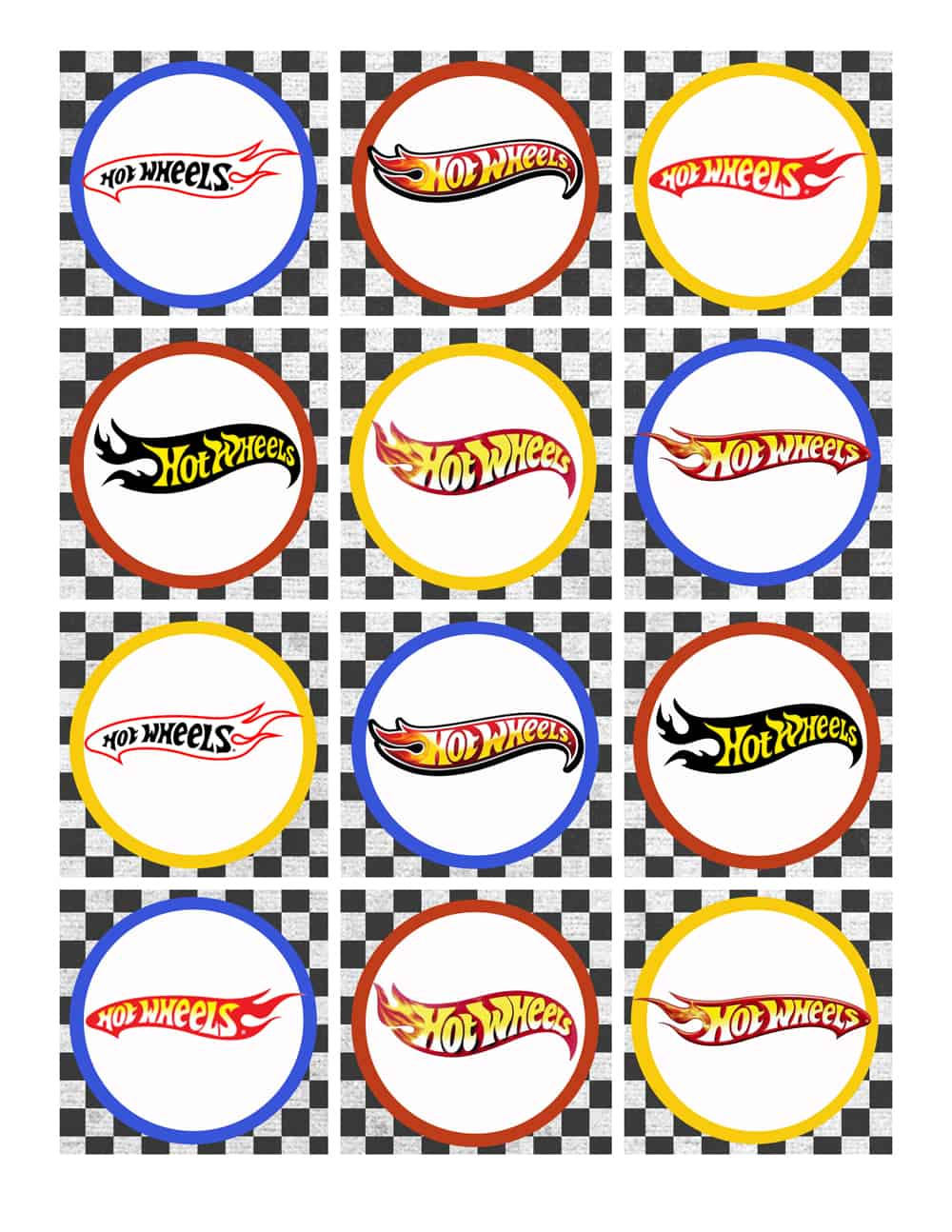 Hot Wheels Birthday Party Pack Free Printables
