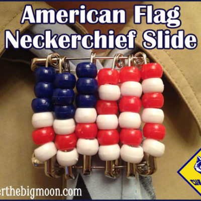 Cub Scout Flag Neckerchief Slide