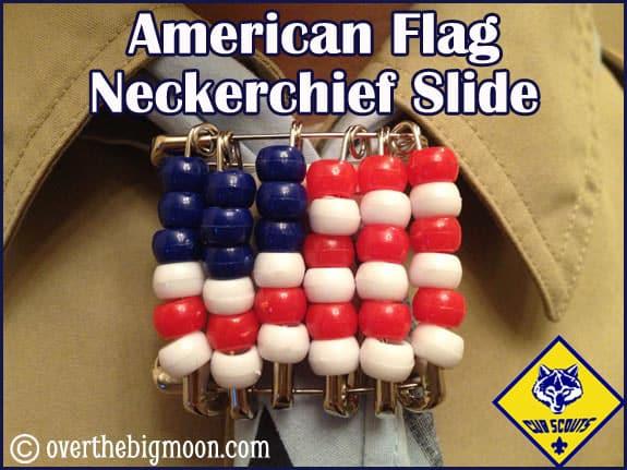 neckerchief slide american flag