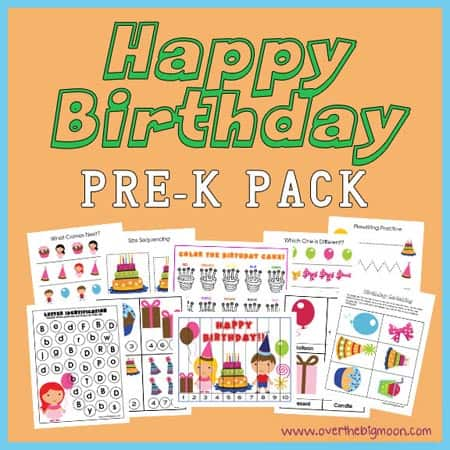 HappyBdayButton Happy Birthday Pre K Pack