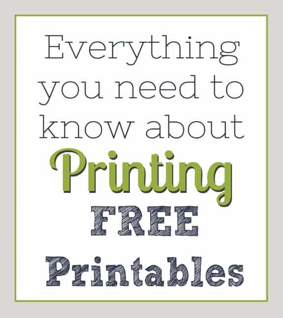 Printing Free Printables