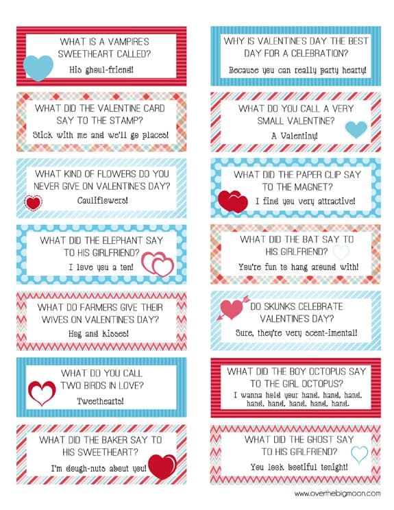... box Joke cards 444x575 FREE Printable Valentines Lunch Box Joke Cards