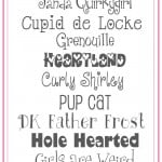 Valentines fonts