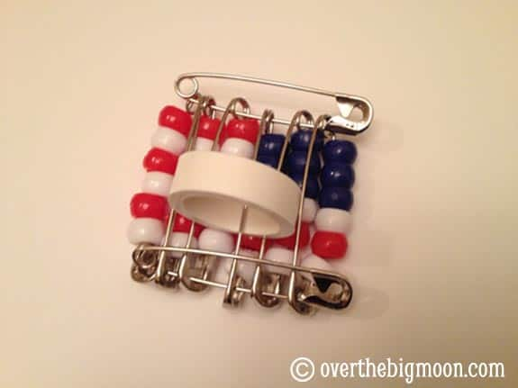back American Flag Neckerchief Slide   Cub Scouts