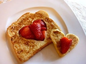 french toast hearts 300x225 20 Valentines Days Activities for Kids Roundup