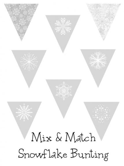 snowflake bunting button 429x575 Free Printable Winter/Snowflake Bunting