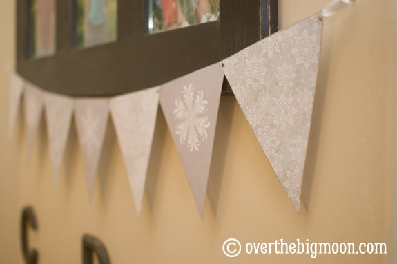 snowflake bunting2 Free Printable Winter/Snowflake Bunting