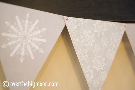 snowflake bunting4 Free Printable Winter/Snowflake Bunting