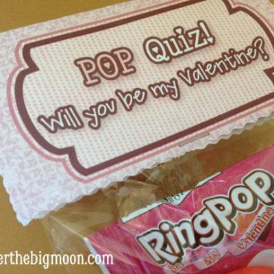 Kids Valentine Printable - POP Quiz