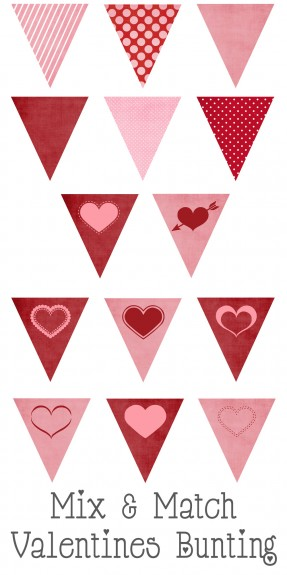valentines bunting button 287x575 Free Printable Valentines Mix and Match Bunting