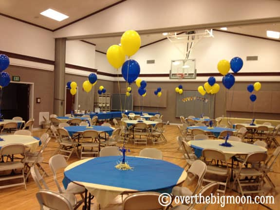 Blue And Gold Banquet Ideas