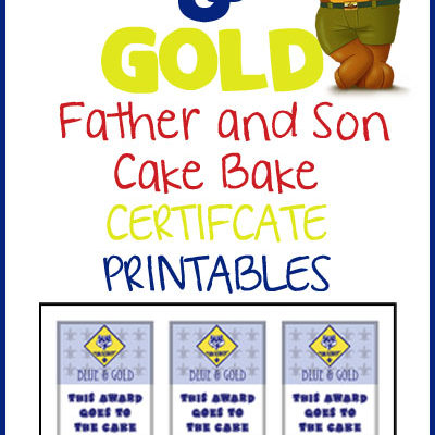 Blue & Gold Cake Bake Certificates
