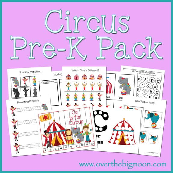 Over The Big Moon Circus Pre-K Pack