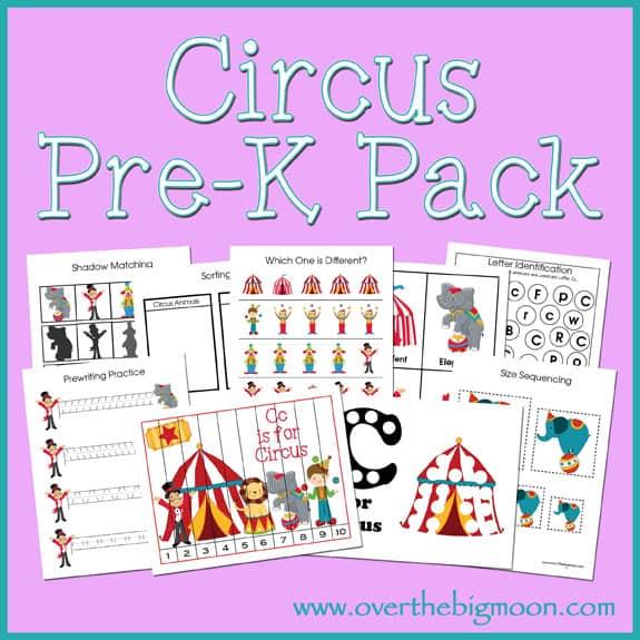Circus Pre K Pack