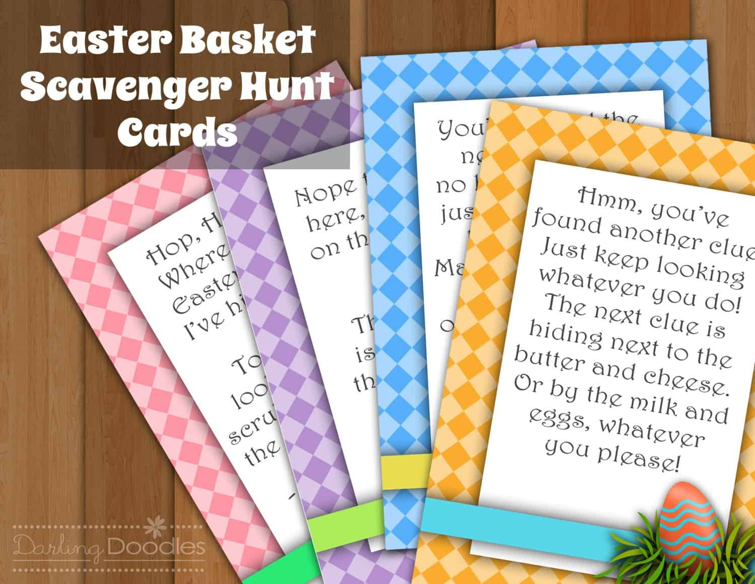 Easter Egg Hunt Clue Cards and 10+ other fun Easter Egg Hunt Ideas! From overthebigmoon.com!