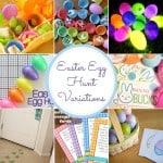 Easter Egg Hunt Variations - there are so many fun ideas here! Can't wait to try a new hunt this year! From www.overthebigmoon.com!