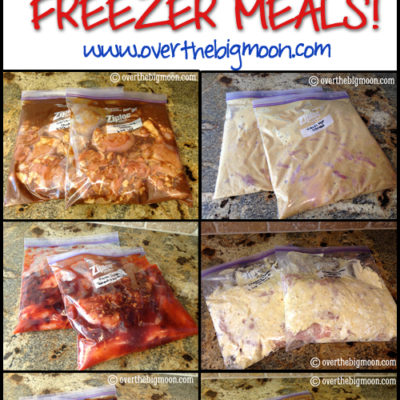 Super Fast Chicken Freezer Meals that are perfect for FAMILIES! Kid friendly recipes that are quick and easy! From www.overthebigmoon.com!