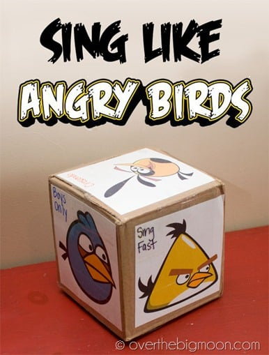 Sing Like angry birds button copy