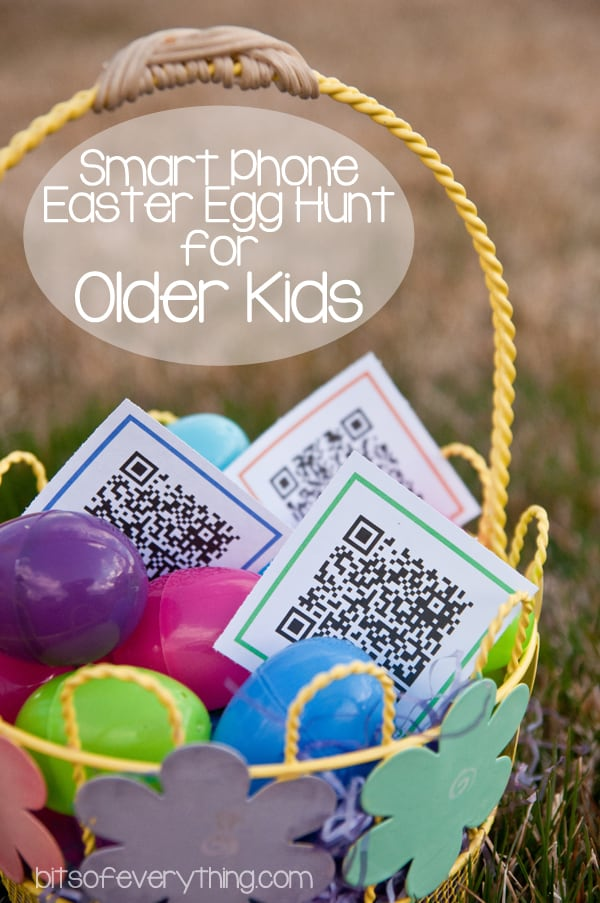 Smart Phone Easter Egg Hunt and 10+ other fun Easter Egg Hunt Ideas! From overthebigmoon.com!